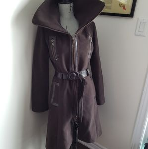 Jackets & Blazers - Size small chocolate brown wool & genuine leather